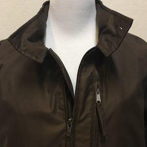 Men's Lands Ends Brown bomber jacket, VGUC